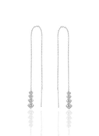 Söğütlü Silver Gümüş Işıltılı Gümüş Zcir Küpe Gümüş